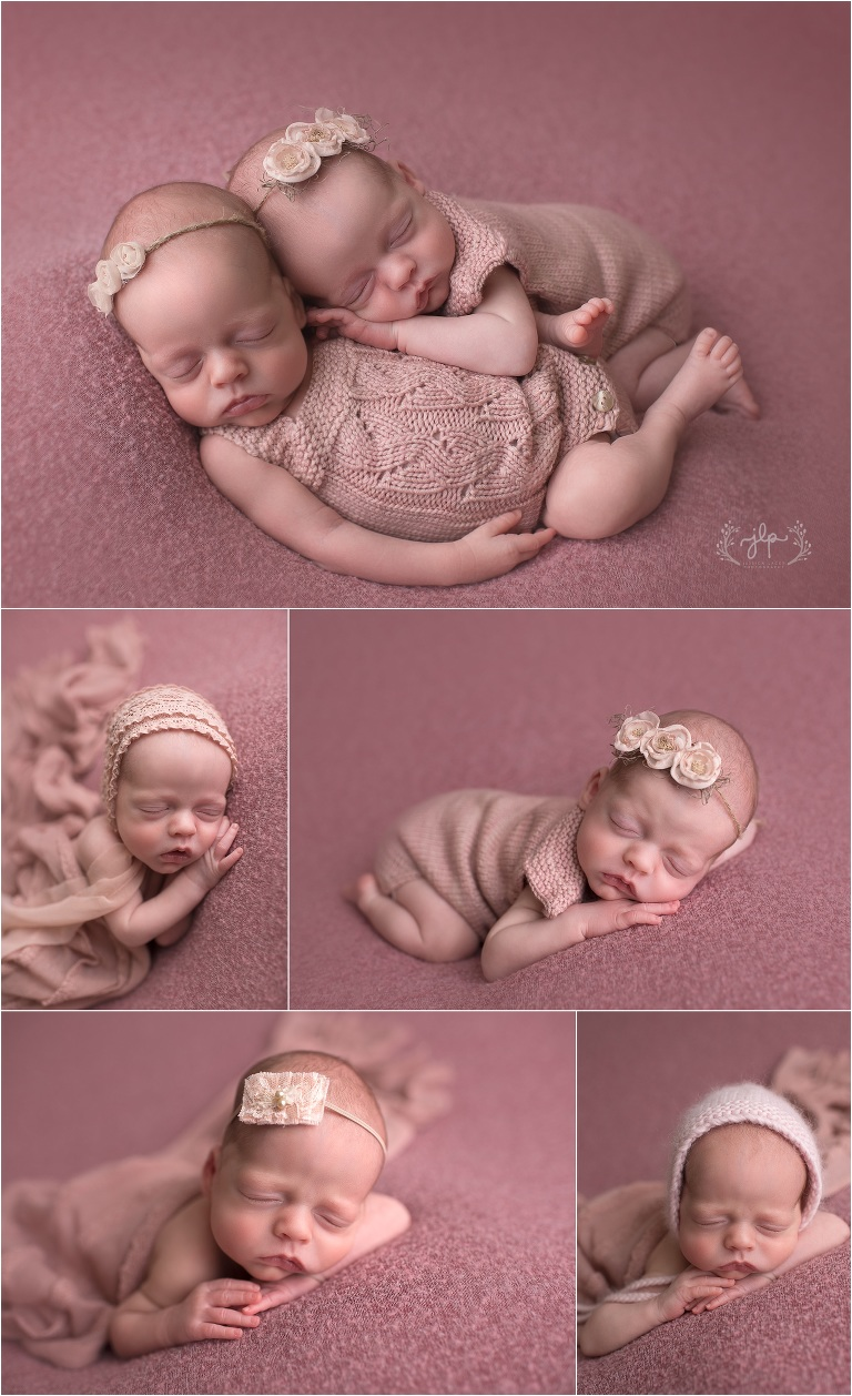 Clara grace 6 week old twins mayland newborn photographer